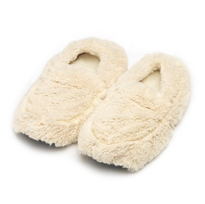 Warmies Lavender Scented Cozy Plush Cream Slippers