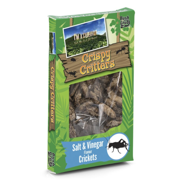 I'm A Celebrity Bush Grub - Crispy Critters - Salt & Vinegar Crickets