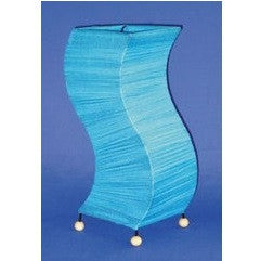 Retro Style Turquoise Crinkle Wave Lamp