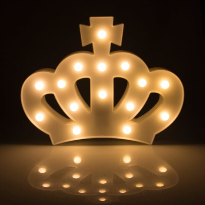 White LED Crown Marquee Light Box