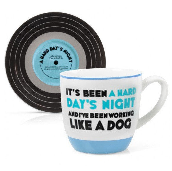Lennon & McCartney Cup & Saucer Set - A Hard Day's Night