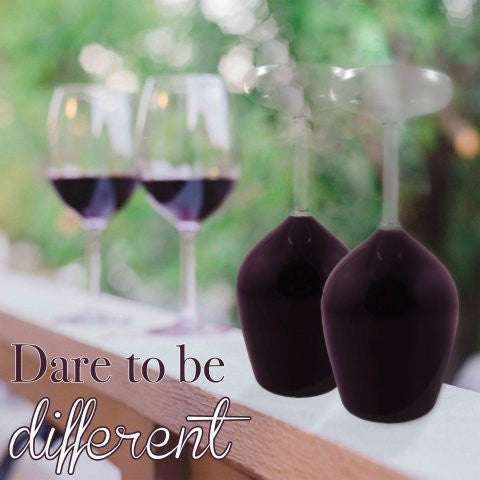 Upside Down Wine Glass Set of 2 ~ Dare to be Different