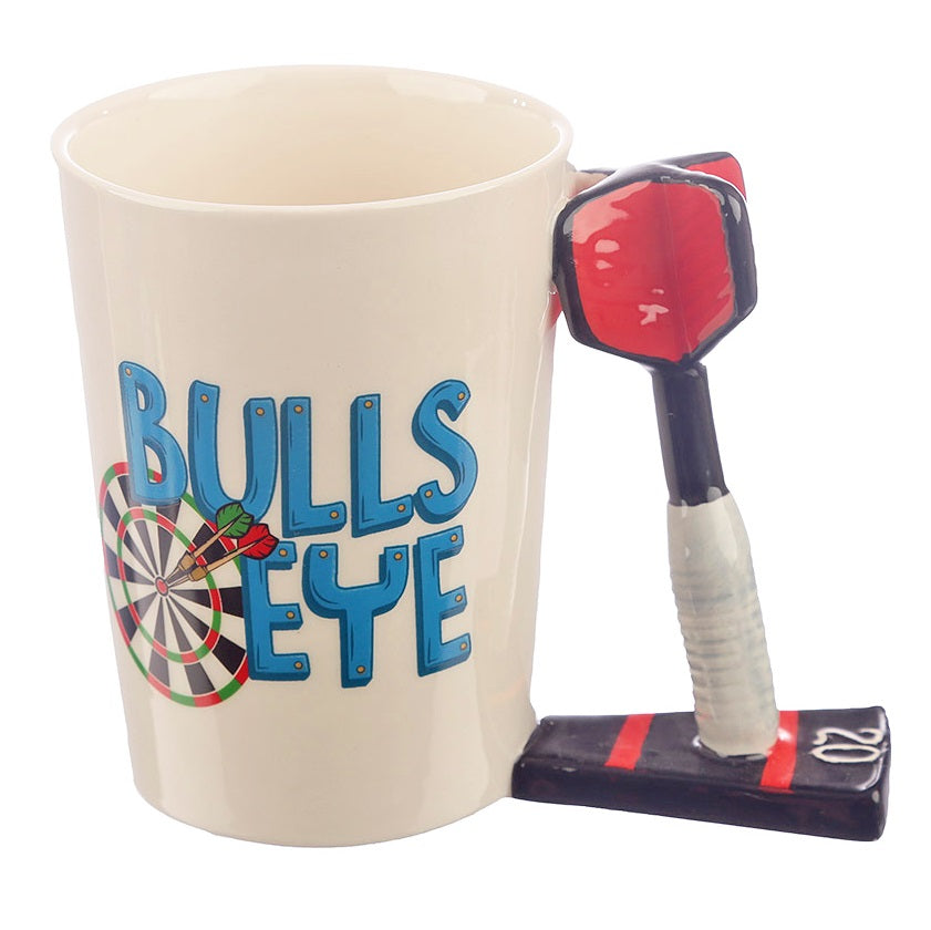 Bullseye Dart Shaped Handle Ceramic Mug by Puckator