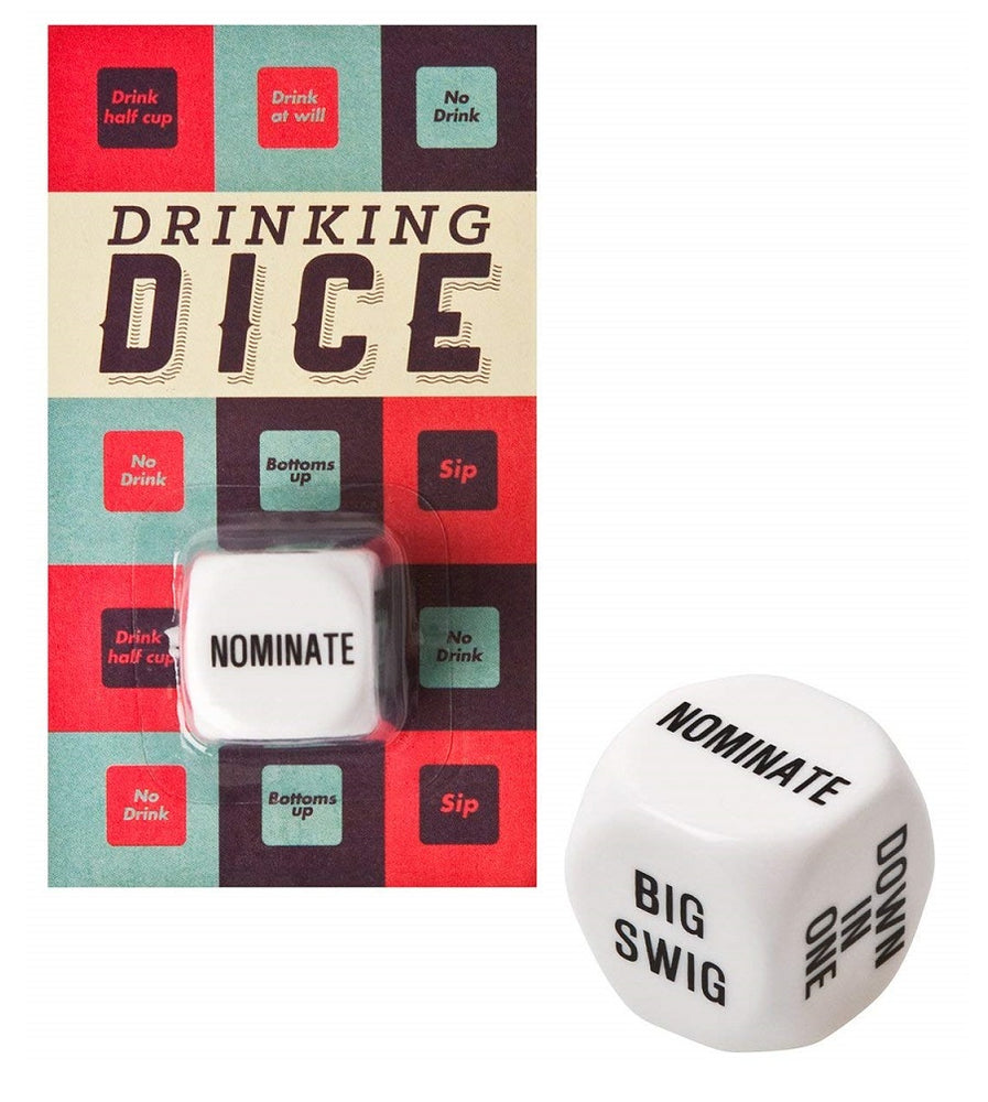 Fun dice drinking game in packaging