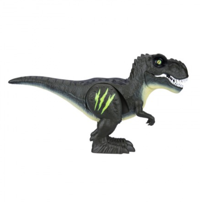 Robo Alive Attacking T-Rex Dinosaur Jungle Green Side View