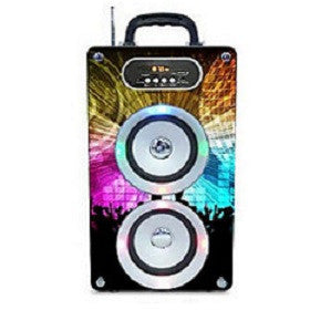 Steepletone Soundbox Speaker with Lights - Disco Ball Design