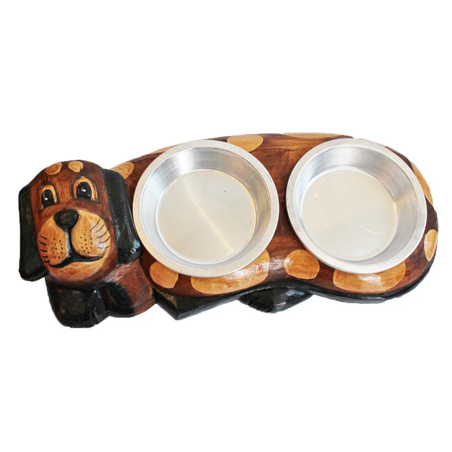 Double Dog Bowl Holder
