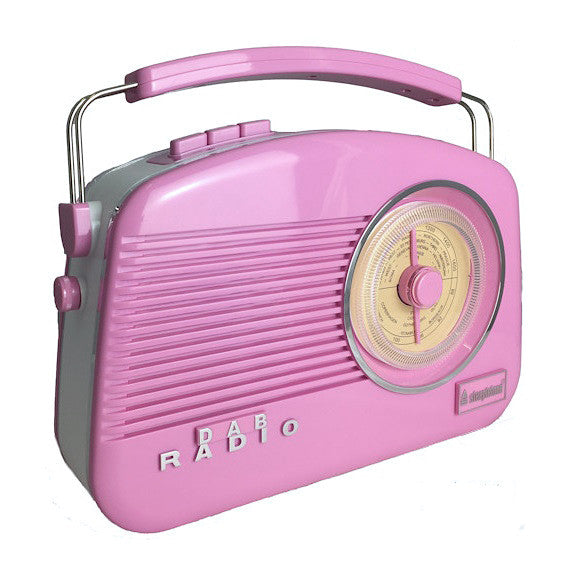 Steepletone Dorset Limited Edition Retro Styled MW-FM & DAB Radio - Pink
