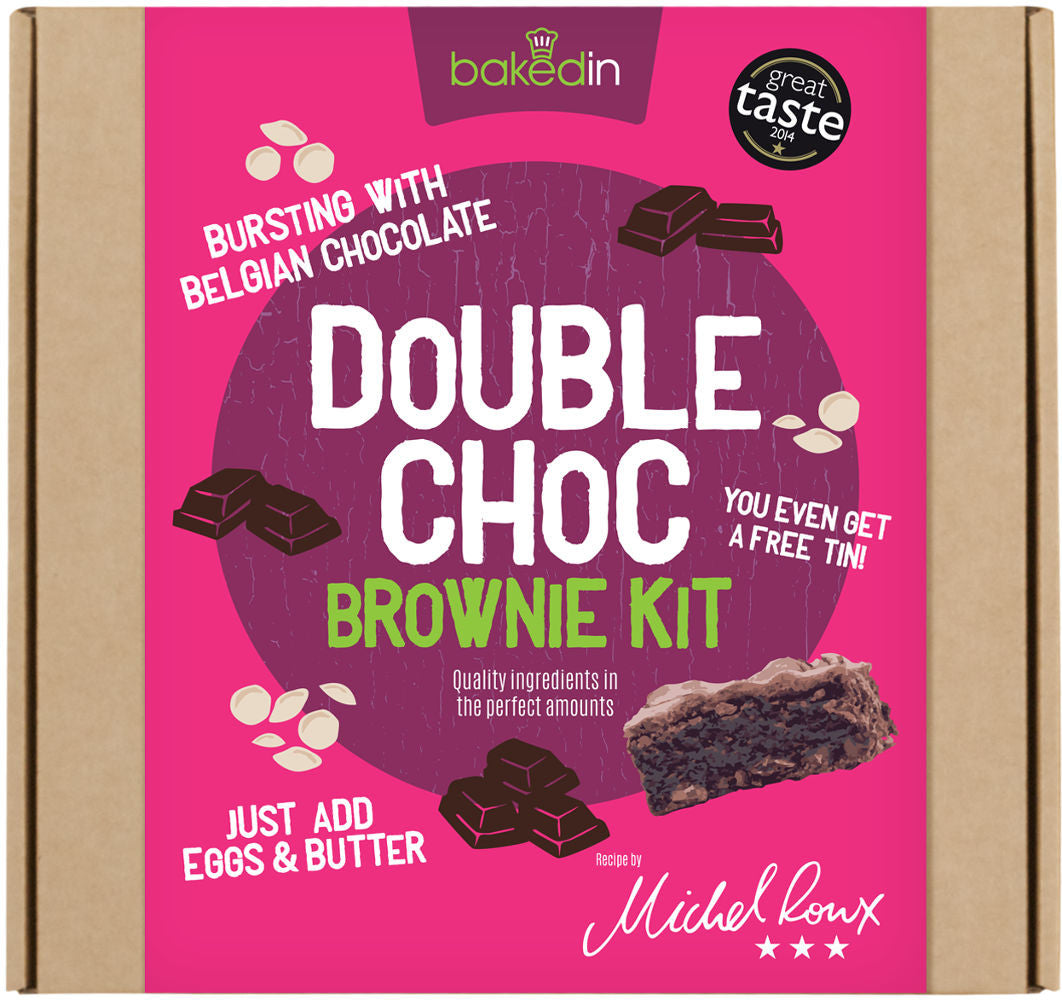 Baked In Double Choc Brownie Baking Kit - Make Your Own