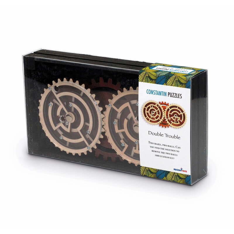 Double Trouble Wooden Puzzle by Constanin Puzzles Box
