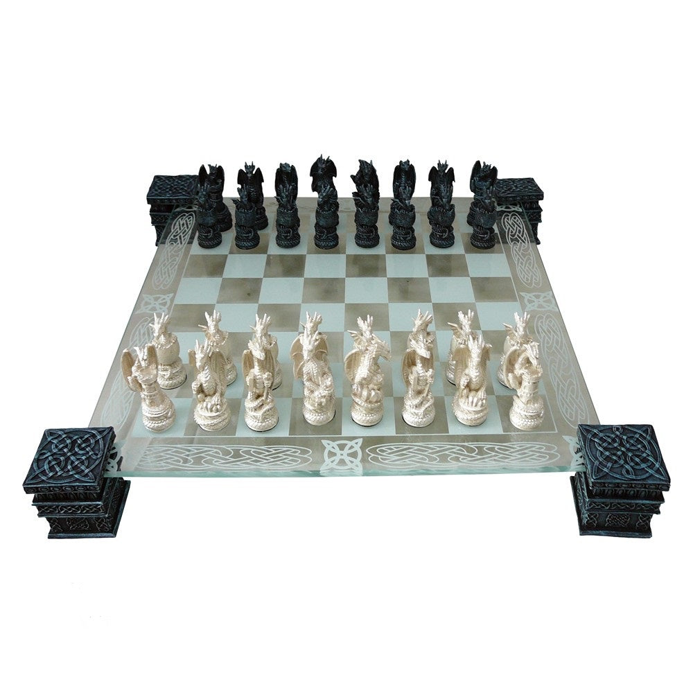 'Dragon' Fantasy Glass Chess Set