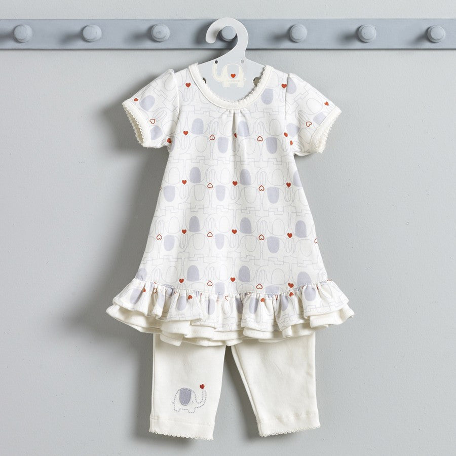 Natures Purest 'My First Friend' Baby Girl's Elephant Dress & Leggings