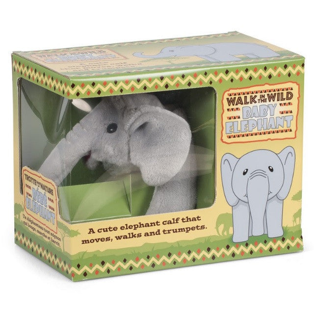 Walk In The Wild Walking Trumpeting Baby Elephant Soft Plush Toy