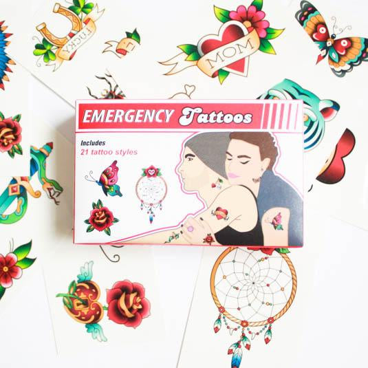 Emergency Temporary Tattoos (21 pack)