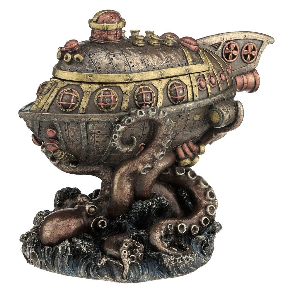 'Leviathan's Escape' Steampunk Figurine Trinket Box