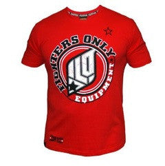 Fighters Only Men's 'Essential Gear' T-Shirt - Red