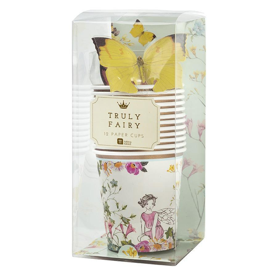 Truly Fairy Paper Cups with Butterfly Detail by Talking Tables Box