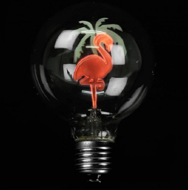 Flamingo Globe Light Bulb by Temerity Jones