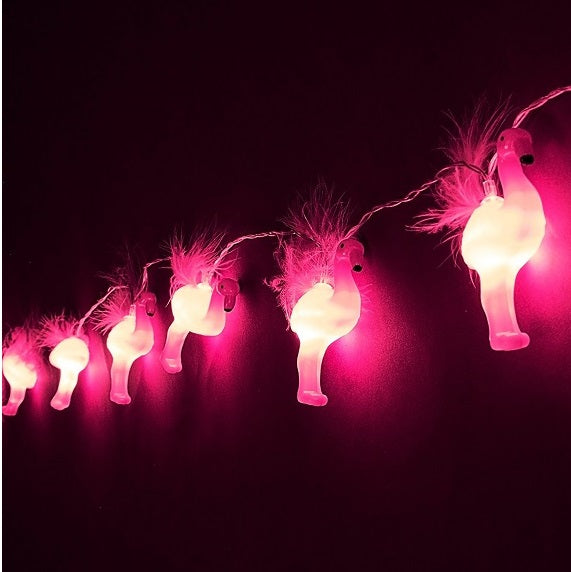 Fluffy Flamingo LED String Lights