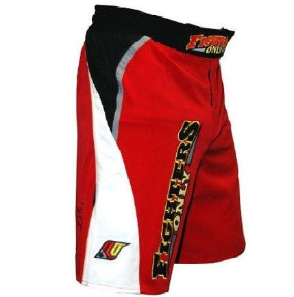 Fighters Only ~~ MMA Fight Shorts ~~ Red ~~ Heavyweight 4 Way Stretch (Small)