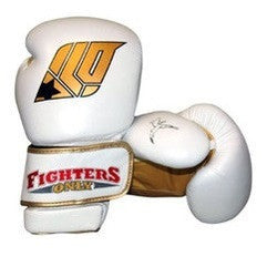 Fighters Only Men's Boxing Gloves White 10oz