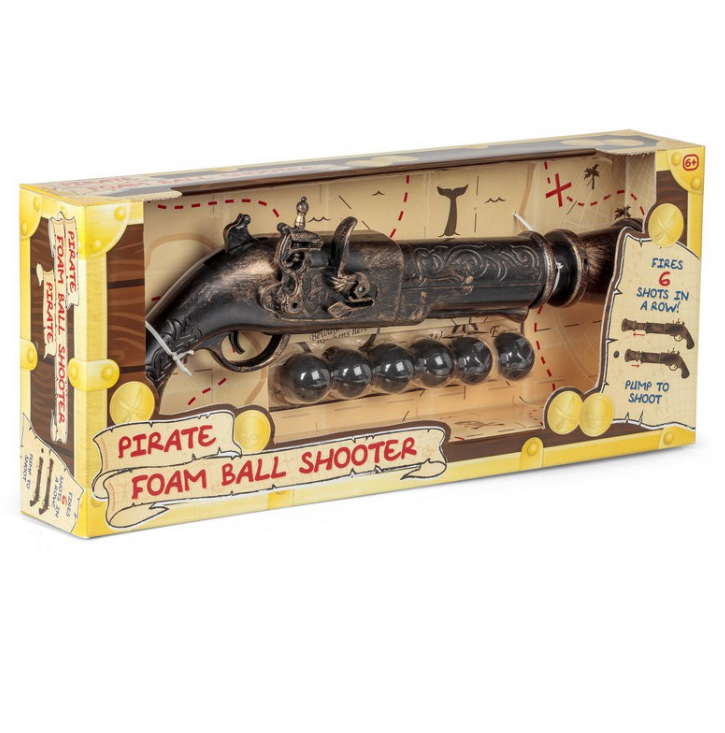 Pirate Foam Ball Shooter Toy