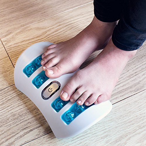 Vibrating foot massager machine with Shiatsu foot massager concept