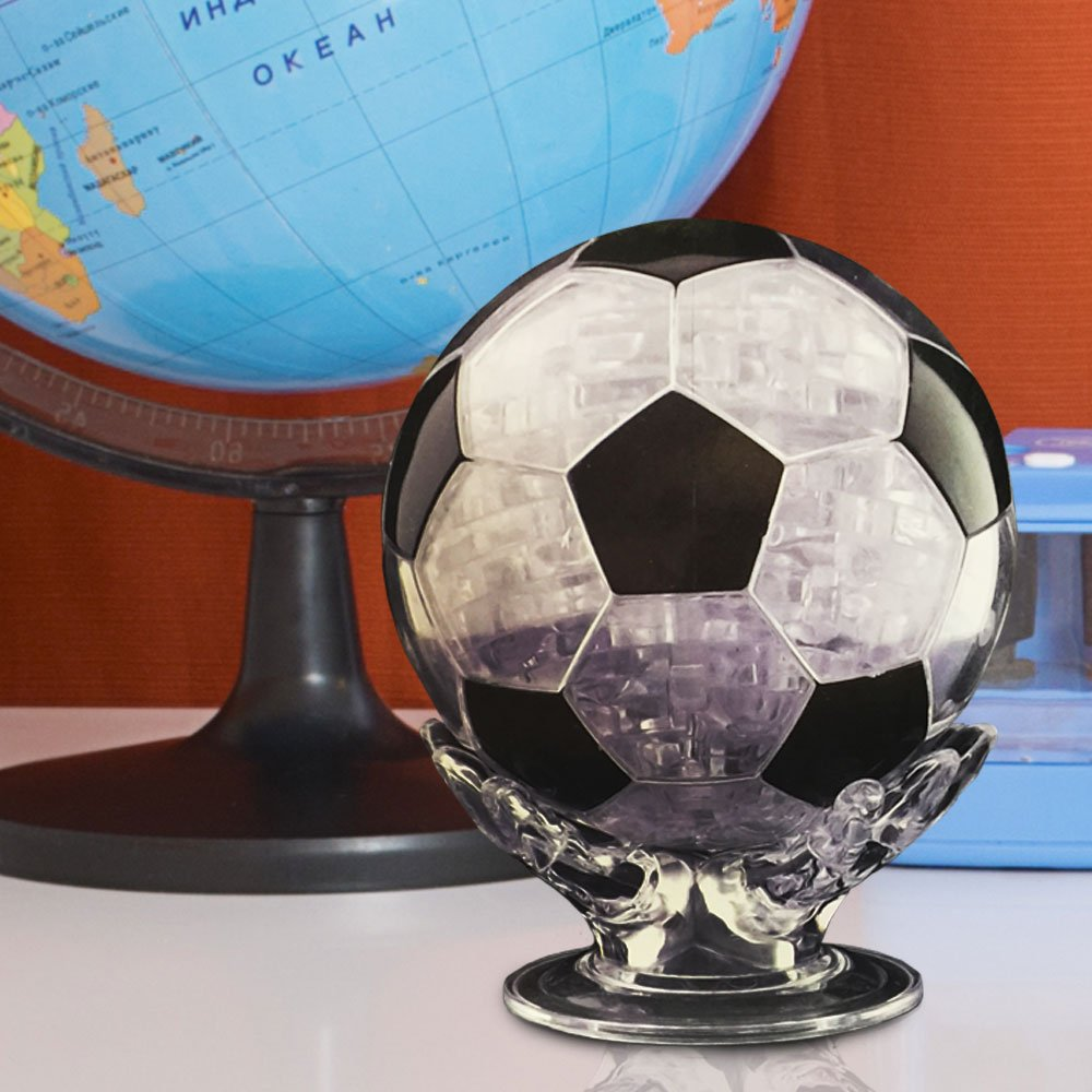 plastic football 3d puzzle on a shelf