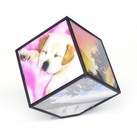 Revolving Cube 6 Image Photo Frame