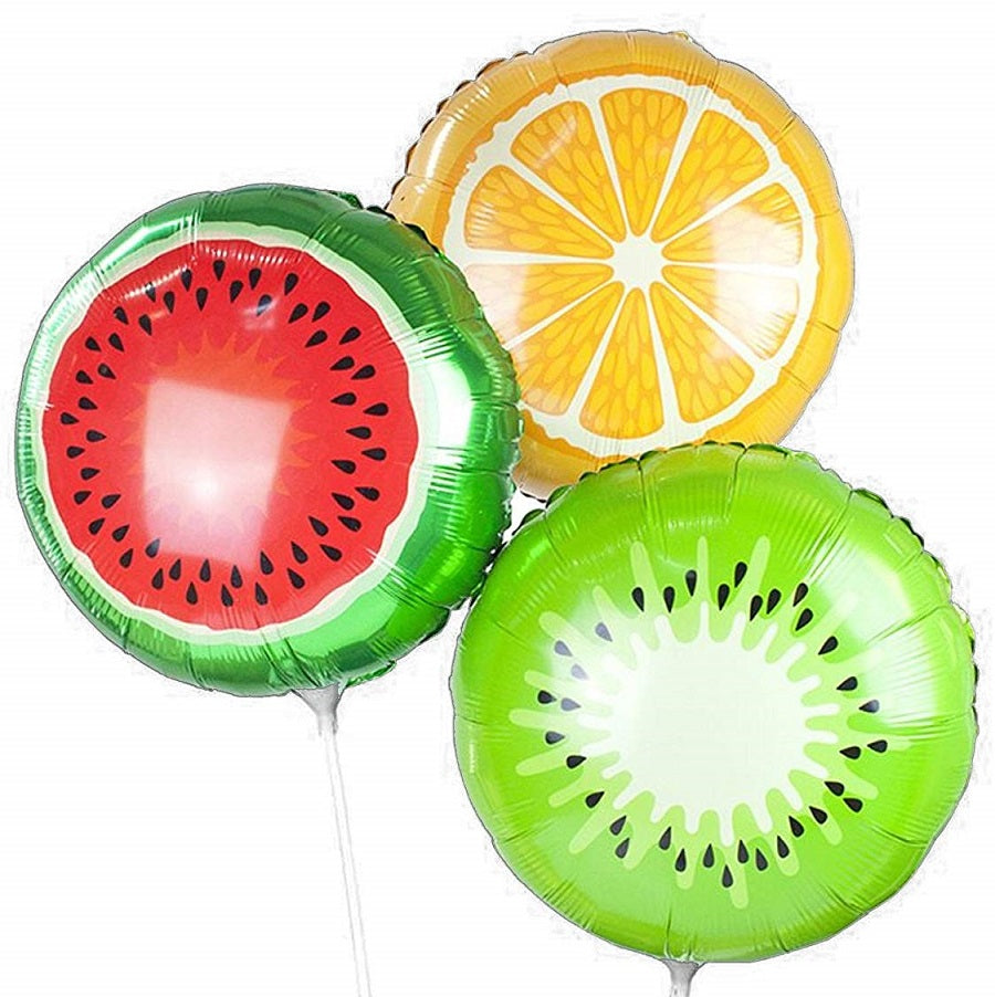 Orange Kiwi Watermelon Fruit Balloons