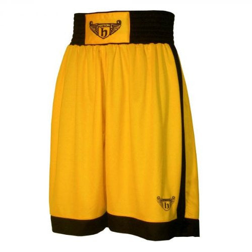 Hatton Boxing Polyester Boxing Club Shorts - Gold/Black