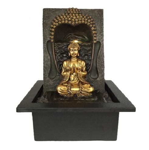 Golden Buddha Indoor Water Feature