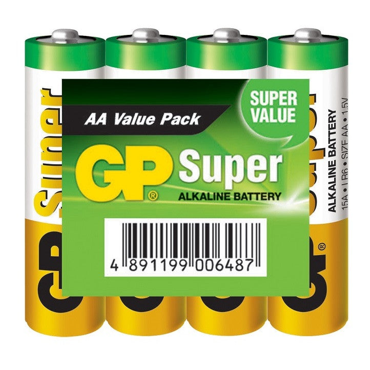 GP AA/LR6 1.5 V Super Alkaline Battery (4 Blister)