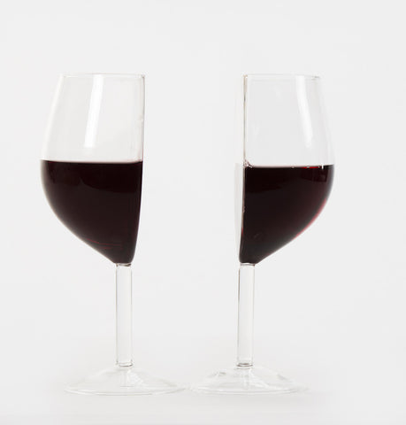 Half Cut Wine Glass Set of 2