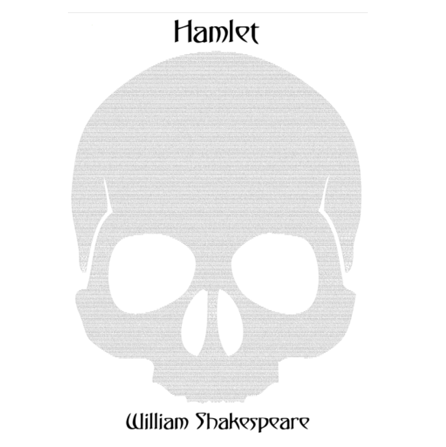 'Hamlet' Full Play Text Poster Print