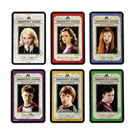 Harry Potter Cluedo cards