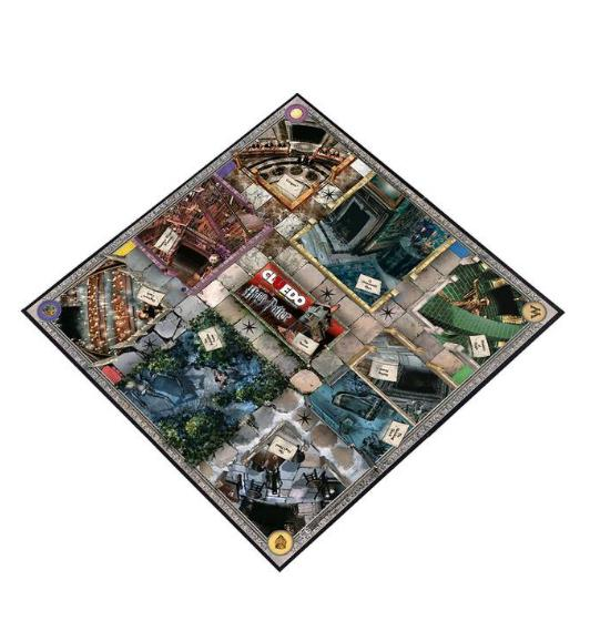 Harry Potter Cluedo game board
