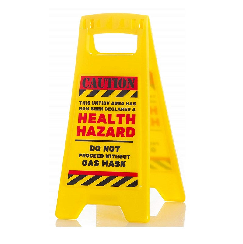 Caution Health Hazard Desk Warning Sign