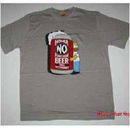 Men's The Simpsons Homer 'No Beer No Function' T-Shirt