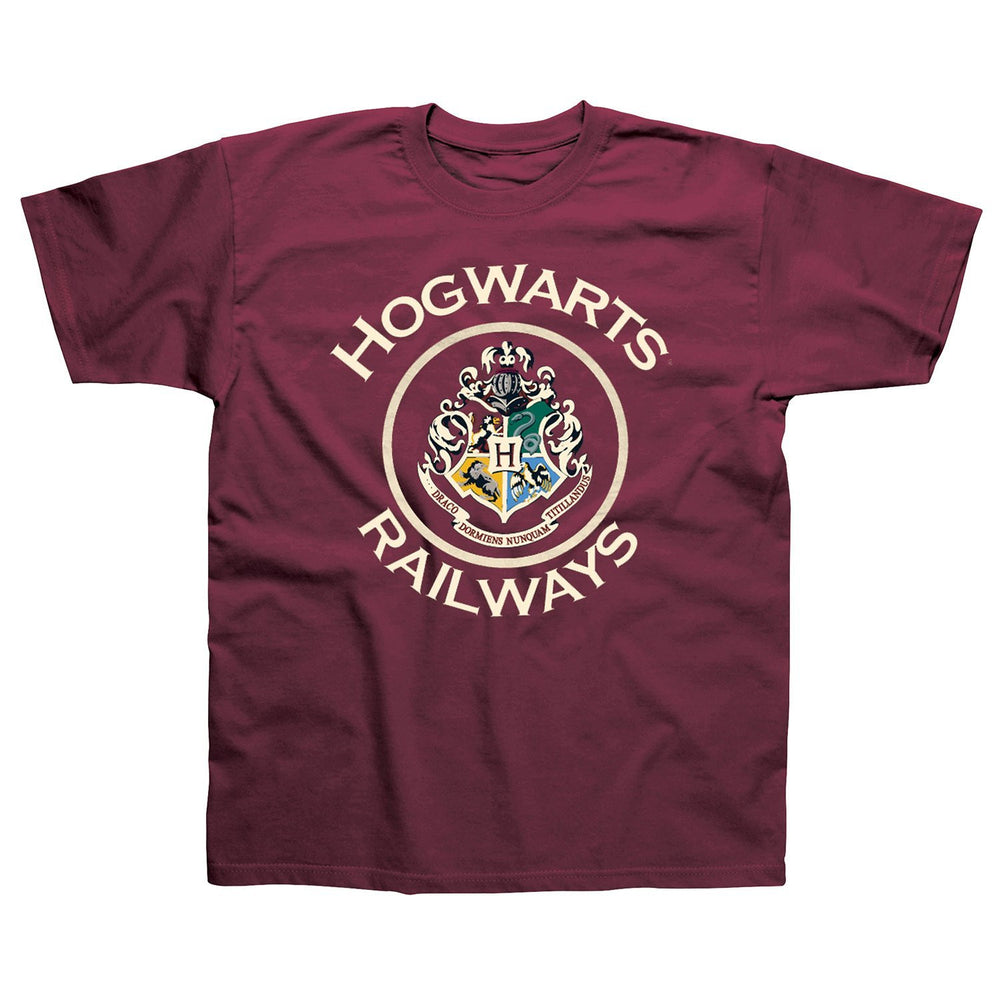 Men's Harry Potter 'Hogwarts Railways' T-Shirt (Large)
