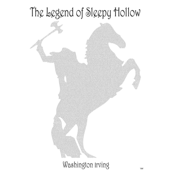 'The Legend Of Sleepy Hollow' Full Book Text Poster Print