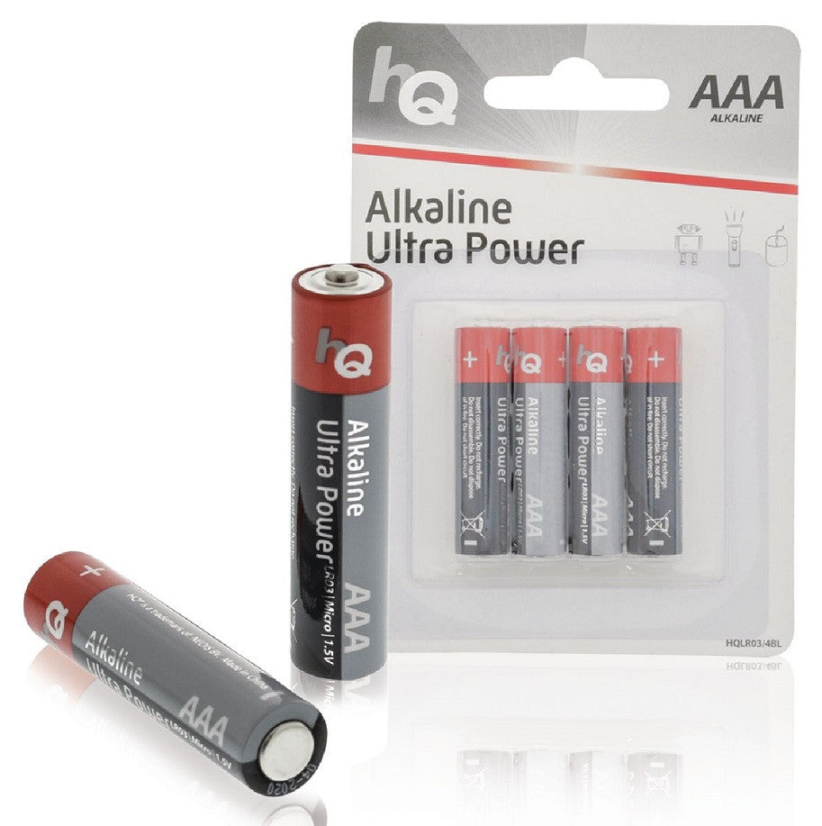 HQ AAA/LR03 1.5 V Alkaline Battery (4 Blister)