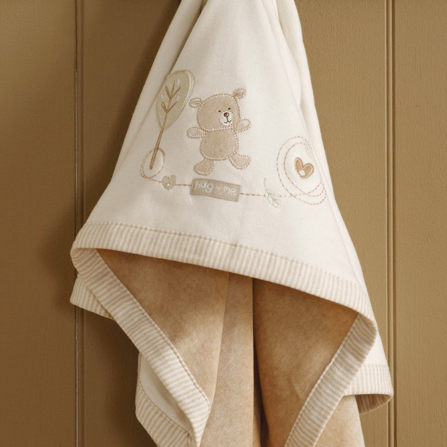 Natures Purest 'Hug Me Bear' Velour Pram Blanket