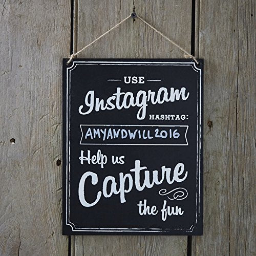Instagram Hashtag Hanging Wooden Sign