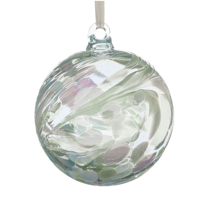 June Pearl 10cm Glass Birthstone Ball
