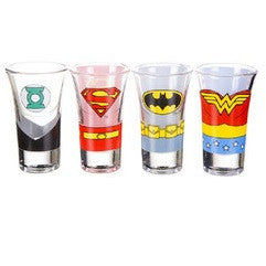 Justice League of America - Set of 4 Shot Glasses