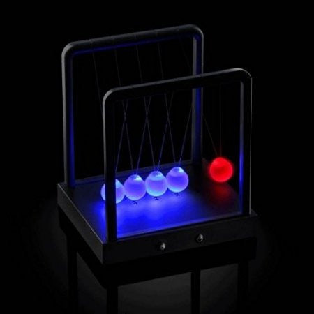Kinetic Light LED Newton's Cradle - 3 Modes