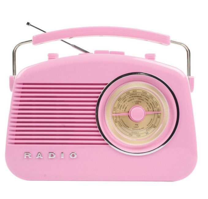 Retro Pink AM/FM Radio
