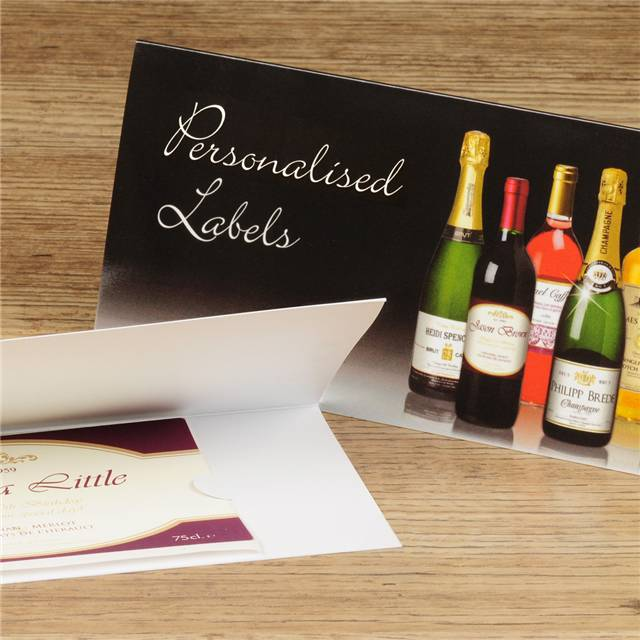 Personalised Classic Black Labels for Prosecco (Pack of 2)