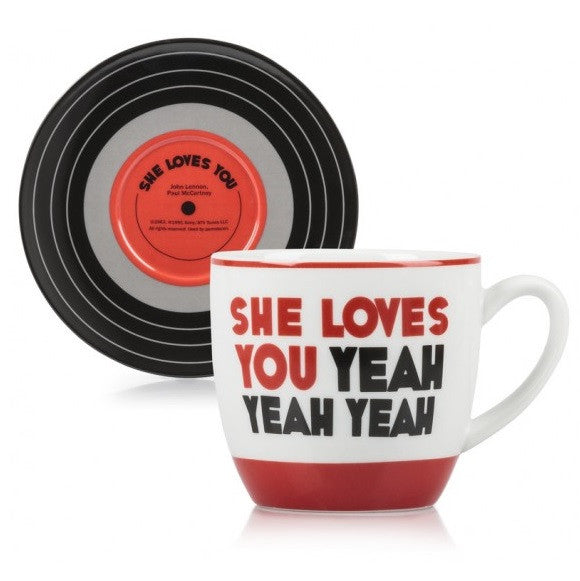 Lennon & McCartney Cup & Saucer Set - She Loves You